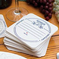 Advice For The Mr and Mrs Wedding Coasters - Set of 25