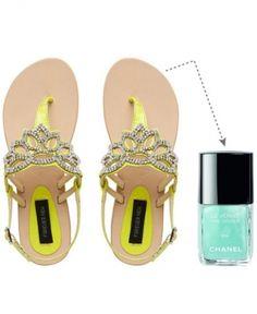 Summer Footsies: 15 stellar strappy sandal & pedi polish combos for the sizzlin season #summerstyle #summer2013