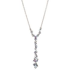 Cool Heather Marquis Delicate Y Cluster Necklace