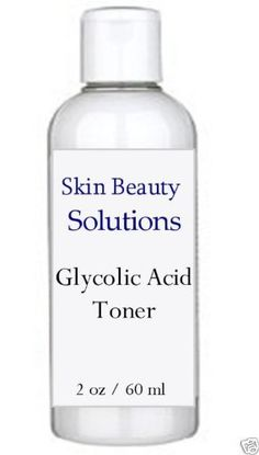 2 oz Glycolic Acid Skin Toner 10% - acne, wrinkles, large pores, antiagin by Skin beauty solutions. $12.99. This is the perfect Toner to round out your antioxidant line of products.  All skin can benefit from antioxidants. They are a must for dry, mature, sensitive, sun damaged skin and over exposed skin.. It is a critical step that is often over looked. This step closes the pores, adjusts the pH of the skin and removes any remaining oil or dirt from the skin.. Any skin ca...