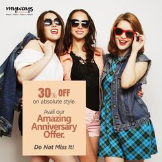 Calling all fashion lovers here. Avail our amazing #Anniversary offer,  buy your fav brand and flaunt your style. Come to Myways today!