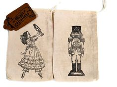 Nutcracker  Suite  Christmas Treat Bags by valburgesscollage, $8.50