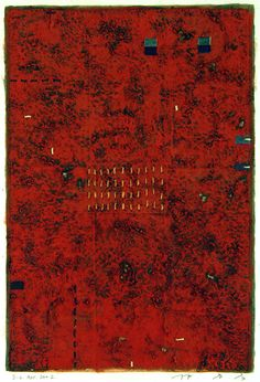 D-6.Apr.2002 43x29cm Mixed media/ paper making,painting, collage  林孝彦 HAYASHI Takahiko 2002