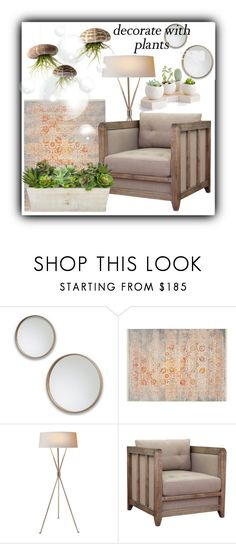 """""""#1324@"""" by elena-gienko ❤ liked on Polyvore featuring interior, interiors, interior design, home, home decor, interior decorating, Safavieh, I Love Living, plants and planters"""