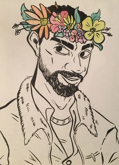 """dragonchubs:  """"Ok so I wanted to do a series like drawing all the walking dead game characters with flower crowns but I may limit that to like…. seven a season  """""""