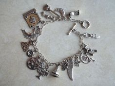 Witchy Charm Bracelet by CellDara on Etsy, $21.00