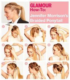 DIY Jennifer Morrison Braided Ponytail Hairstyle DIY Fashion Tips / DIY Fashion Projects