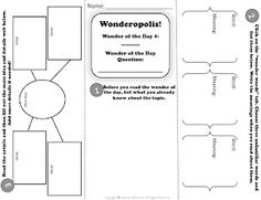 FREEBIE! Wonderopolis Trifold Activity Sheet! Wonderopolis is an awesome, free app to get your students' minds thinking!