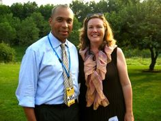 Massachusetts governor Deval Patrick and Pittsfield cultural development director Megan Whilden