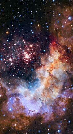 Hubble Space Telescope image of the cluster Westerlund 2 and its surroundings  Super Star Cluster Westerlund 2.  This cluster is so massive that it is e... - Aftab khAn - Google+