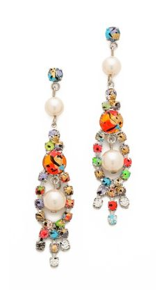 Splattered Paint Crystal Earrings by Tom Binns Another pair of gorgeous earrings, ideal for those with a unique sense of style. Crystal Earrings, Statement Earrings, Dangle Earrings, Nail Polish Jewelry, Fashion Jewellery Online, Tom Binns, Designer Earrings, Bridal Jewelry, Beaded Jewelry