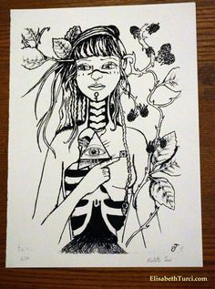 Le Chagrin_ screen print limited edition signed by SidheArtCraft