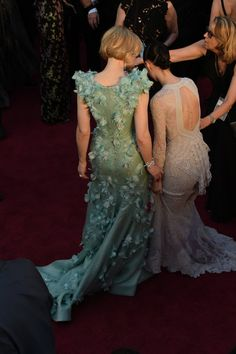 Pin for Later: Revivez les 17 Meilleurs Moments Mode des Oscars 2016 Cate Blanchett et Rooney Mara
