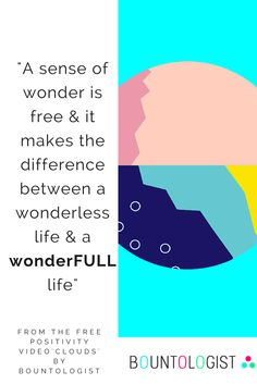 "We see the beauty when our sense of wonder is strong.  From the 'Find Inspiration, Relaxation & Wonder.  Cloud Watching and What it Has to Teach Us"" positivity video: http://www.bountologist.com/positive-resources-free-videos-vlog/   Includes a tribute to Alan Watts.  #quote #positivequotes #wonderfullife #clouds #wonder #inspiration #inspiration #alanwatts"