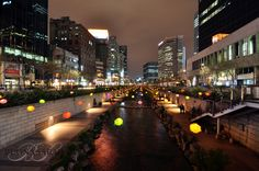 Cheonggyecheon stream, Seoul, South Korea                                 Between 1948 and 1960, the stream was covered and used for roads.  In 2003, the then-Seoul mayor initiated the project to restore the stream and turn it into a public recreation area.