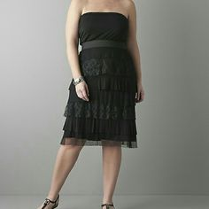 Lane Bryant Tiered Lace Tube Dress