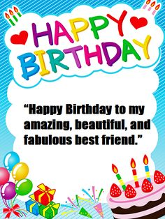 Send birthday wishes for a best friend with smile,joy,blessing and beautiful quotes,birthday wishes to a friend,best bir Best Birthday Wishes Messages, Birthday Wishes For Friend, Birthday Greetings, Birthday Month, 3rd Birthday Parties, Motivational Picture Quotes, Love Images, Best Friends, Feelings