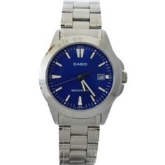 Casio #MTP1215A-2A2 Men's Analog Stainless Steel Watch with Date