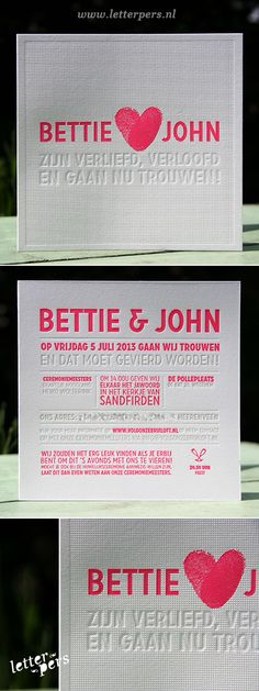 letterpers_letterpress_trouwkaart_Bettie_John_fluor_roze_preeg