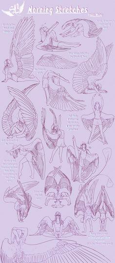 a mi siempre me han encamtado los angeles a si que aqui teneis un par de dibujos