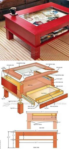 Display Coffee Table Plans - Furniture Plans and Projects | WoodArchivist.com