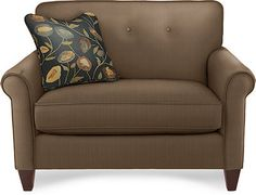 "Lazboy Laurel chair and a half, 52"" wide"