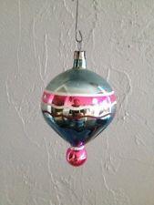 Antique Mercury Glass Christmas Ornament Hand Painted