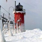 South Haven Lighthouse - Lake Michigan 1872, 1903