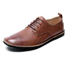 Textured Leather Plain Toe Derby Shoes