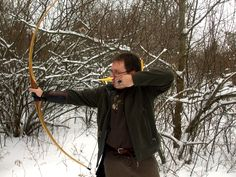 Shooting my longbow