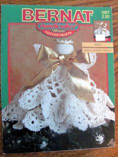 Bernat 1287 Crochet Angel Pattern Crochet by OnceUponAnHeirloom, $3.95