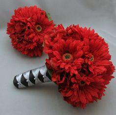 gerber daisey wedding bouquets | gerber_daisy_wedding_flower_package_bridal_bridesmaid_bouquet_bouts ...
