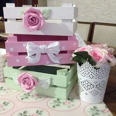 DIY Easy Shabby Chic Arts and Crafts Ideas Einfache Shabby Chic-Bastelideen 8 Shabby Chic Crafts, Shabby Chic Kitchen, Shabby Chic Homes, Shabby Chic Style, Shabby Chic Decor, Shabby Chic Kunst, Manualidades Shabby Chic, Decoration Shabby, Fruits Decoration