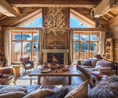 The finest luxury villa, luxury chalet & apartment rental service : Eden Luxury homes Chalet Interior, Country House Interior, Home Interior Design, Interior Decorating, Decorating Ideas, Quonset Hut Homes, Log Cabin Homes, Barn Homes, Log Cabins