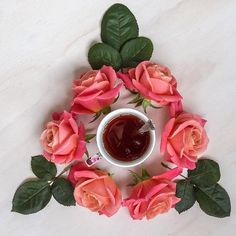 Roses and tea go well together
