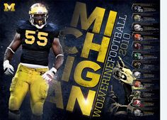 Michigan Football Poster by Seth Rexilius