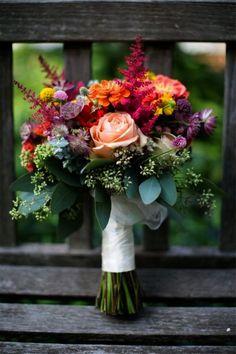 Garden Style Bouquet Falls Flowers - September wedding at Power Plant Cheap Wedding Flowers, Fall Wedding Bouquets, Bridal Flowers, Fall Flowers, Wedding Centerpieces, Floral Wedding, Wedding Decorations, Wedding Bride, Bouquet Flowers