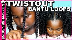 Twistout on Natural Hair with Bantu Loops   My DNA Curls - YouTube