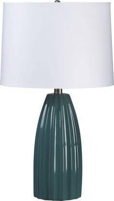 Bedroom lamps- Ella Teal Table Lamp  | Crate and Barrel
