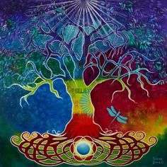 Celtic Tree of Life -Intuitive Paintings - Susan Farrell Art