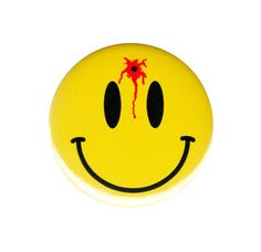 Shot In The Head Smiley Face Pinback Button Badge Pin Bloody Emoticon Emoji Gift