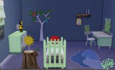 Sims 4 CC's - The Best: Nature Bedroom Set by Sims Artists