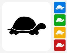 Turtle Icon Flat Graphic Design vector art illustration