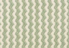 Scrolling Fern Silhouette Wallpaper - Emerald | Soane