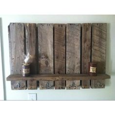 Neato up-cycled coat rack made from old pallets.
