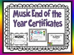 This huge pack of certificates will fill all of your end of the year music certificate needs for general music, band, choir and orchestra. The certificates come in 3 designs: Black and White Classic, Colorful Kids and Polka Dot Border. Each of those designs comes in two formats.