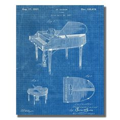 Baby Grand Piano US Patent Office