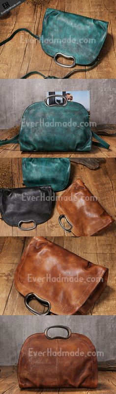 Handmade Leather handbag purse shoulder bag for women leather