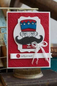 New Holiday Catalog Product! Santa Stache stamp set, Stampin' Up! Kimberly Van Diepen www.stampinbythesea.com