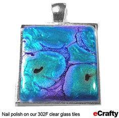 Faux Dichroic Glass Tiles Made with Nail Polish from eCrafty.com | DIY Jewelry & Crafts from eCrafty.com